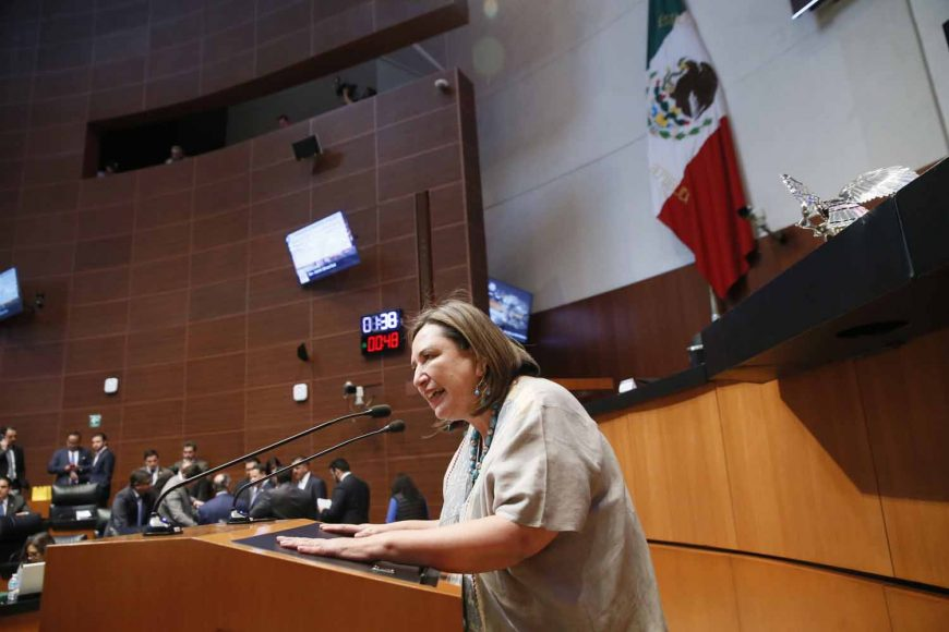 Intervención en tribuna de la senadora Xóchitl Gálvez Ruiz para referirse a un dictamen de las Comisiones Unidas de Justicia, de Economía y de Estudios Legislativos, Segunda, el que contiene proyecto de decreto que expide la Ley de Fomento a la Confianza Ciudadana.