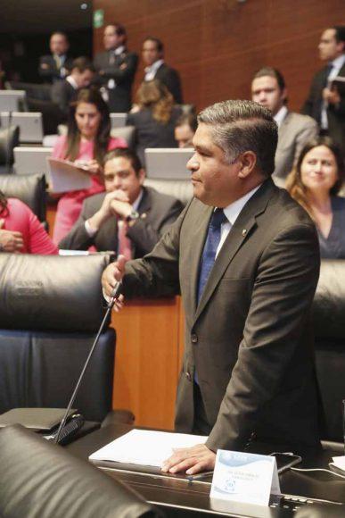 Intervención desde su escaño del senador Víctor Fuentes Solís, al referirse a los hechos violentos ocurridos en Minatitlán, Veracruz.