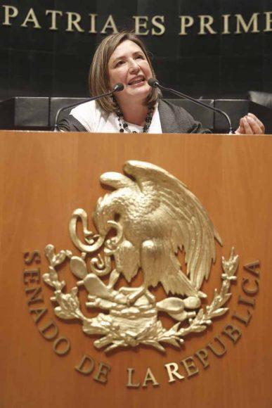Intervención en tribuna de la senadora Xóchitl Gálvez Ruiz para referirse a un dictamen de las Comisiones Unidas de Trabajo y Previsión Social, de Para la Igualdad de Género y de Estudios Legislativos, Primera, el que contiene proyecto de decreto por el que se reforman, adicionan y derogan diversas disposiciones de la Ley Federal del Trabajo y de la Ley del Seguro Social, en materia de las personas trabajadoras del hogar.