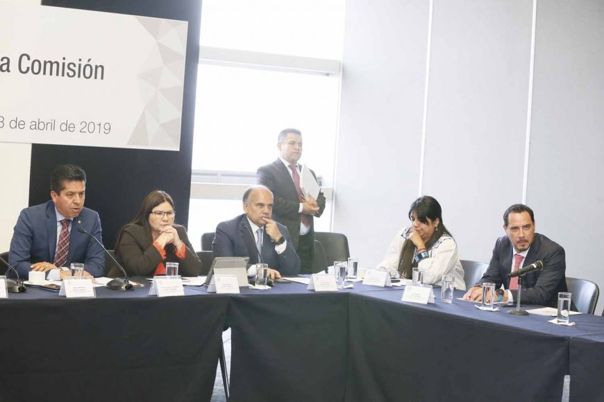 El senador Raúl Paz Alonzo, durante la reunion de trabajo de la Comisión de Turismo.