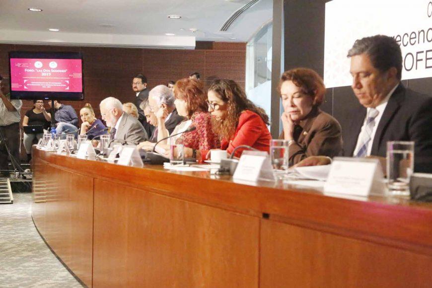 Senadora Alejandra Reynoso Sánchez, al participar en la comparecencia del Director de Cofepris.