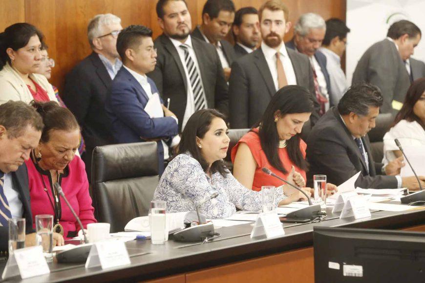Intervención de la senadora Mayuli Latifa Martínez Simón durante la reunión de trabajo de la Comisión de Trabajo y Previsión Social y de Estudios Legislativos Segunda.