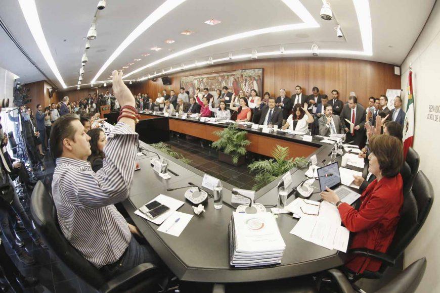 Intervención de la senadora Kenia López Rabadán durante la reunión de trabajo de las comisiones unidas de Trabajo y Previsión Social y de Estudios Legislativos Segunda.