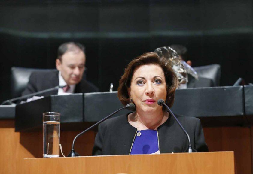 Senadora Guadalupe Murguía Gutiérrez, al intervenir en tribuna