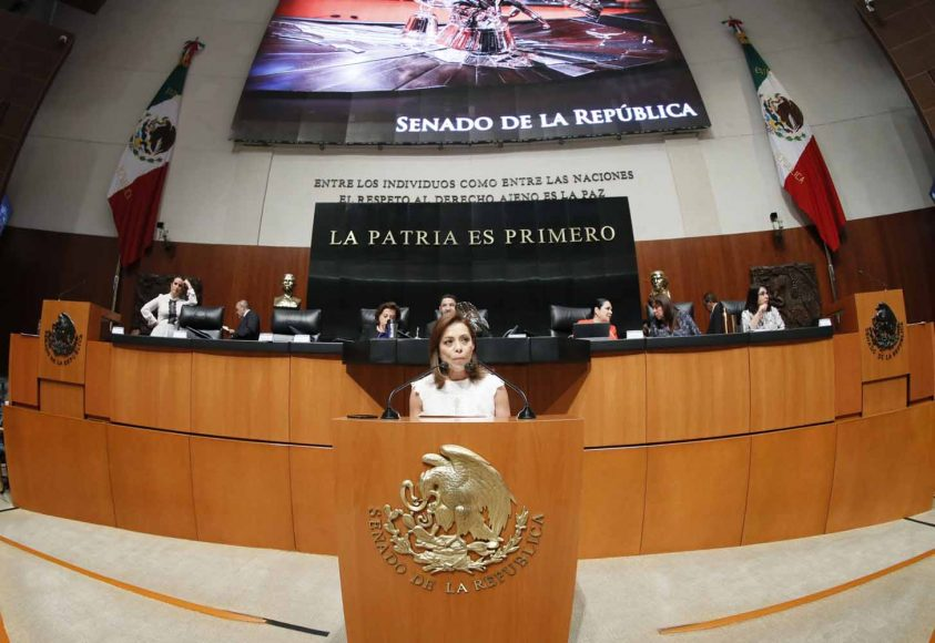 Intervención en tribuna de la senadora Josefina Vázquez Mota para presentar dictamen de las Comisiones Unidas de Derechos de la Niñez y de la Adolescencia; y de Estudios Legislativos, el que contiene proyecto de decreto que reforma y adiciona diversas disposiciones de la Ley General de los Derechos de Niñas, Niños y Adolescentes.