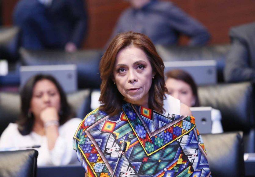 Intervención de la senadora Josefina Vázquez Mota desde su curul para rechazar las agresiones de funcionarios federales a senadores de la República.