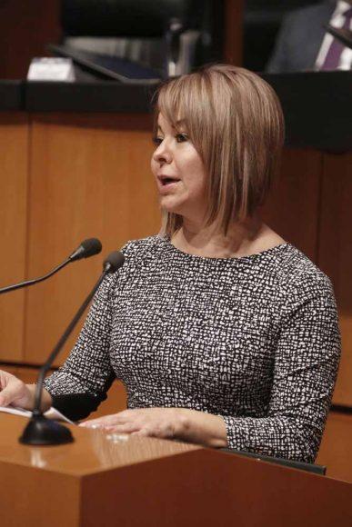 Intervención en tribuna de la senadora Minerva Hernández Ramos para exponer el posicionamiento del GPPAN con relación a la reforma laboral
