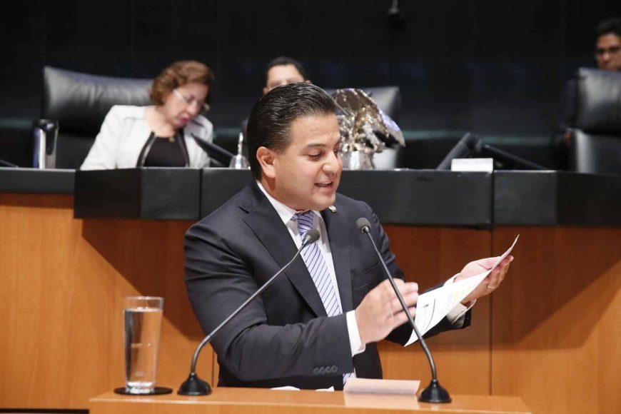 Intervención en tribuna del senador Damián Zepeda Vidales para presentar reservas a un dictamen que reforma diversas disposiciones constitucionales en materia educativa.