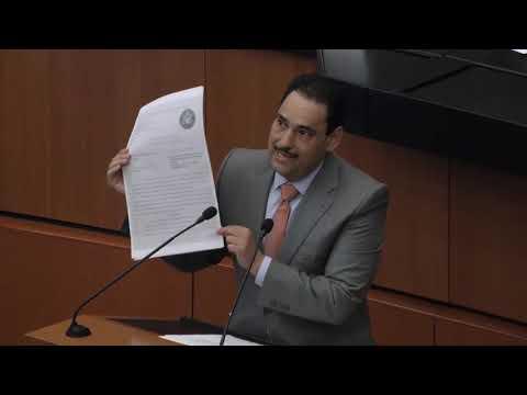 Intervención del senador Juan Antonio Martín del Campo durante la comparecencia del Secretario de Comunicaciones y Transportes, Javier Jiménez Espriú