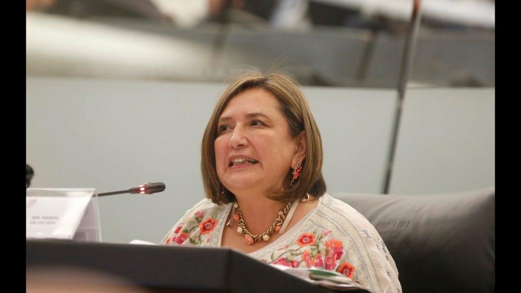 Senadora Xóchitl Gálvez Ruiz durante la comparecencia del secretario de Comunicaciones y Transportes, Javier Jiménez Espriú