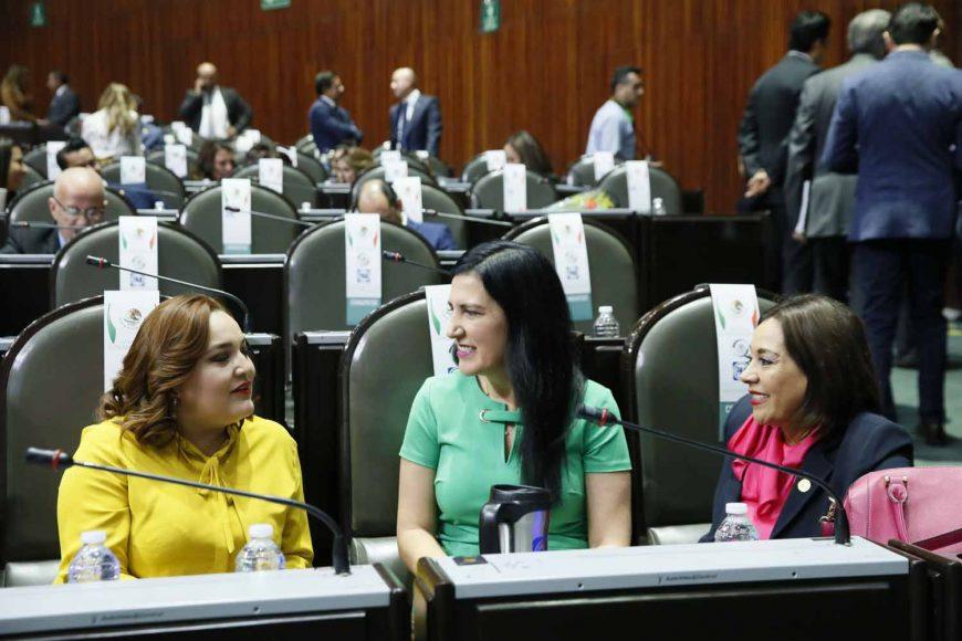Los senadores del PAN durante la sesión de Congreso General, en la Cámara de Diputados.