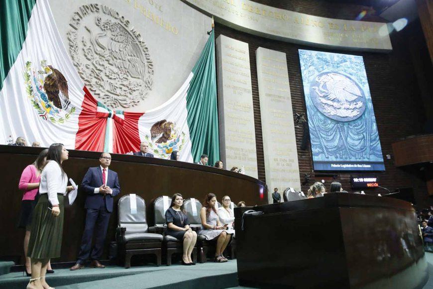Los senadores del PAN durante la instalación de Congreso General, en la Cámara de Diputados.