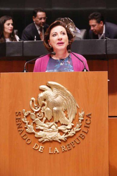 Senadora Guadalupe Murguía Gutiérrez para presentar diversas reservas a un dictamen en materia educativa
