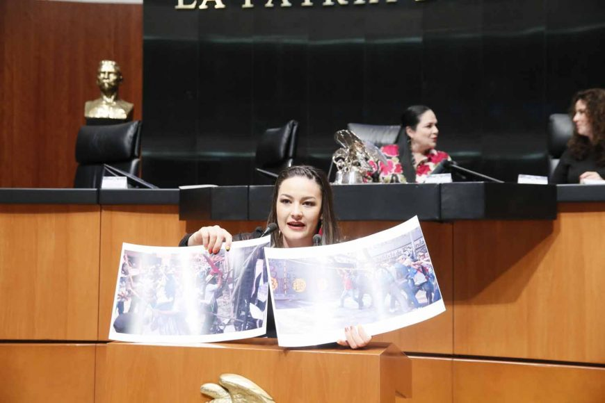 Intervención en tribuna de la senadora Martha Cecilia Márquez Alvarado, del grupo parlamentario del Partido Acción Nacional, para presentar reservas para reformar el décimo cuarto transitorio, el décimo sexto transitorio y propone la adición de un  artículo décimo noveno transitorio.