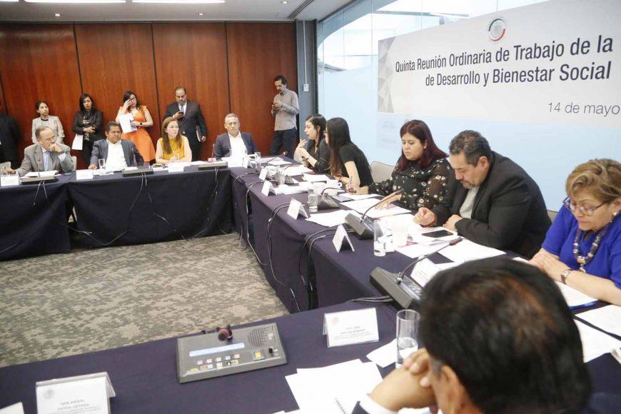 Senador Gustavo Madero Muñoz, durante la reunión de la Comisión de Desarrollo y Bienestar Social