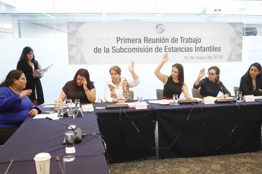 Senadora Josefina Vázquez Mota al intervenir en la primera reunión de la Subcomisión de Estancias Infantiles