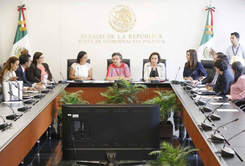 Senadora Guadalupe Murguía Gutiérrez, durante la instalación de la Segunda Comisión de la Permanente.
