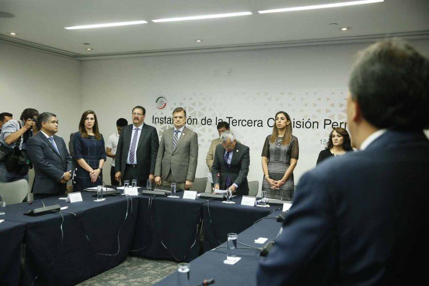 Senador Víctor Fuentes Solís, durante la instalación de la Tercera Comisión de la Permanente.