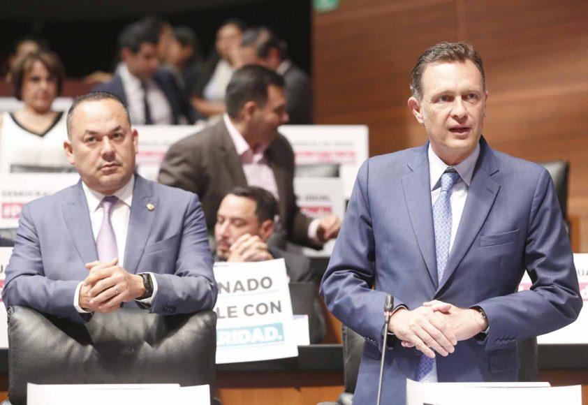 Intervención del coordinador de los senadores del PAN, Mauricio Kuri González, desde su curul.