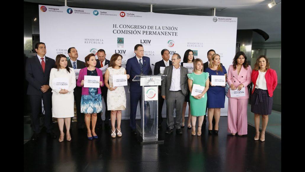 El GPPAN en el Senado vigilará y exigirá que Morena y el presidente cumplan su reforma educativa