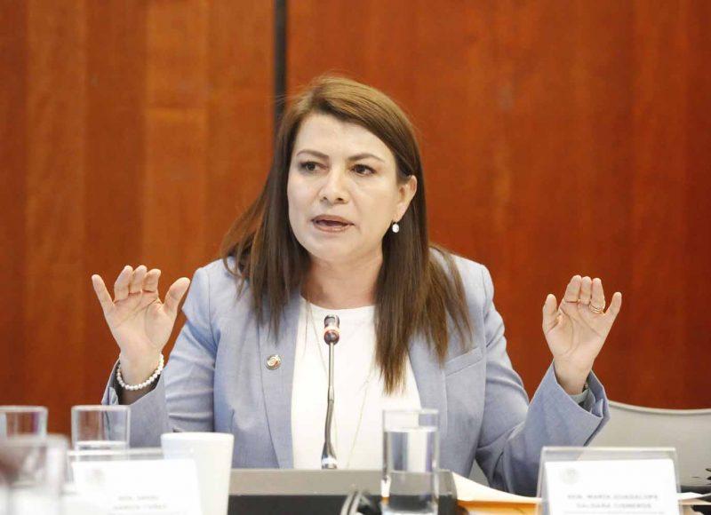 Senadora Guadalupe Saldaña Sen. Guadalupe Saldaña pregunta a Florentino Castro, candidato a Junta para Mejora de la Educacióna Andrea Contreras, candidato a Junta para Mejora de la Educación