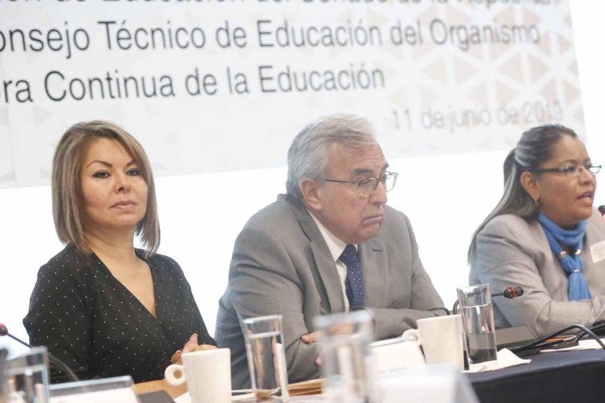 Pregunta de la senadora Minerva Hernández Ramos a María Adriana Flores Dander, candidata a integrar el Consejo Técnico de Educación del Organismo para la Mejora Continua de la Educación, al comparecer ante la Comisión de Educación.