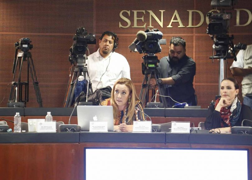 Intervención de la senadora Alejandra Reynoso Sánchez en la reunión de trabajo de las comisiones unidas de Relaciones Exteriores, de Puntos Constitucionales, de Economía y de Relaciones Exteriores América del Norte, con funcionarios de las secretarías de Economía y de Relaciones Exteriores para el análisis del Protocolo que incluye el Tratado entre México, Estados Unidos y Canadá (T-MEC), así como sus seis acuerdos paralelos.