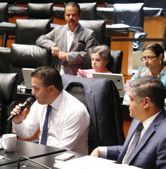 Senador Damián Zepeda Vidales participa en sesión de la Permanente