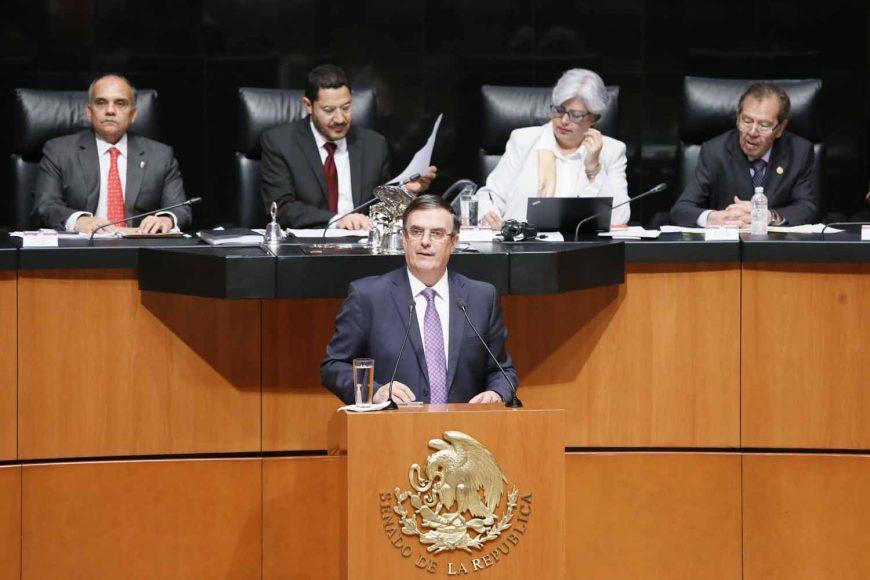 Sesión de la Comisión Permanente, durante la comparecencia del titular de la Secretaría de Relaciones Exteriores, Marcelo Ebrard