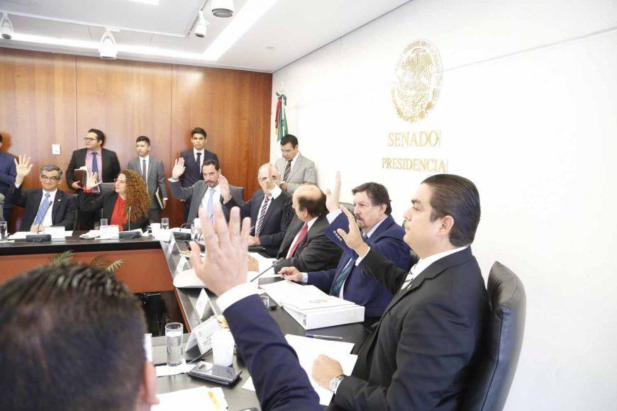 Senador Ismael García Cabeza de Vaca enla reunión de laComisión de Energía.