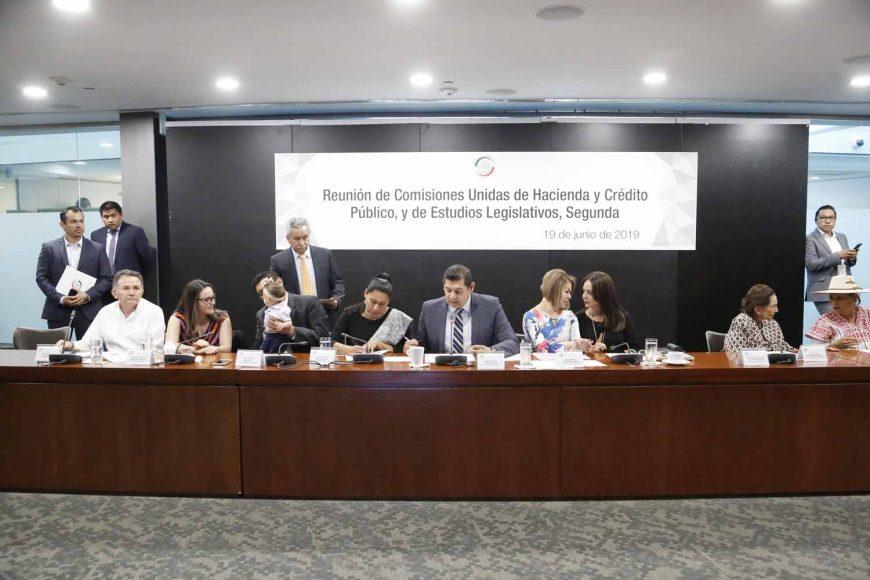 Senadora Martha Márquez, en la reunión de las Comisiones Unidas de de Hacienda y Crédito Público y Estudios Legislativos, Segunda