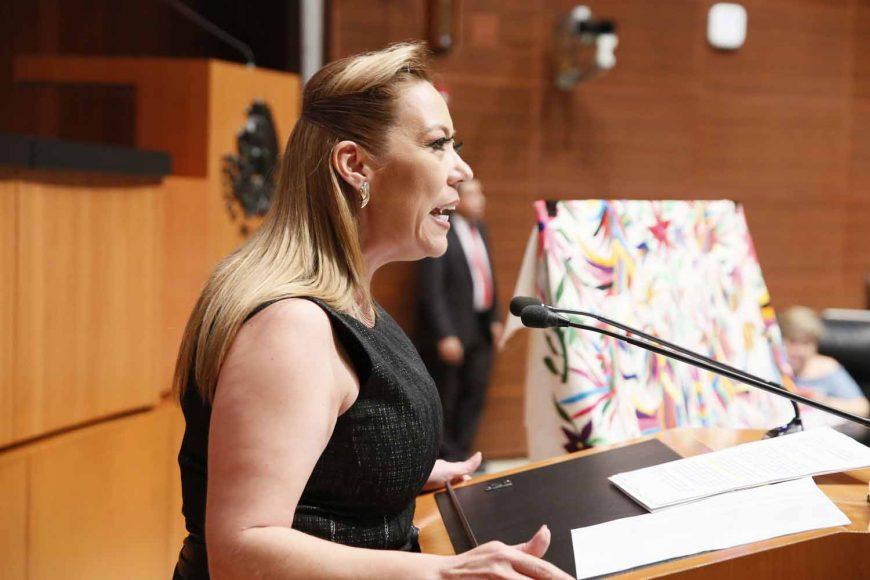 Sen.adora Alejandra Reynoso presenta posicionamiento del PAN en relación a la aprobación del T-MEC