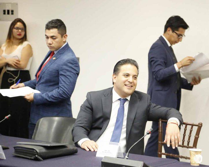 Senador Damián Zepeda Vidales, durante reunión extraordinaria de Comisiones Unidas de Justicia, y Estudios Legislativos, Segunda