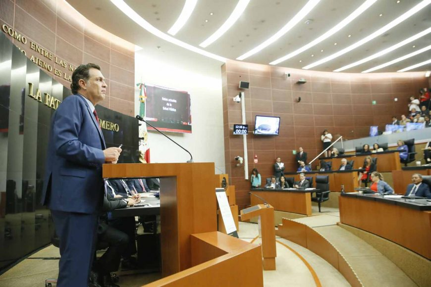 Intervención del Coordinador de los senadores del PAN, Mauricio Kuri González, la firma del Convenio de Salud Pública convocada por el Instituto Belisario Domínguez.