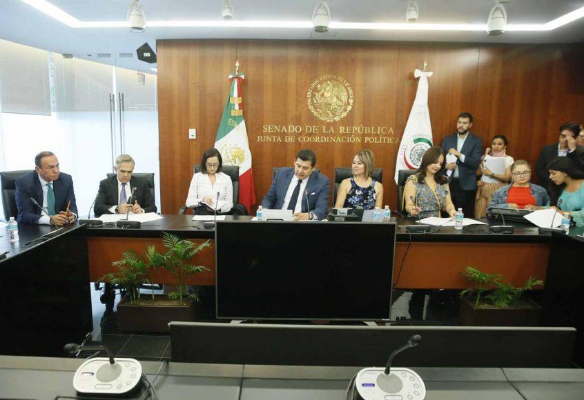 Senadora Minerva Hernández Ramos, en reunión de la Comisión de Hacienda y Crédito Público