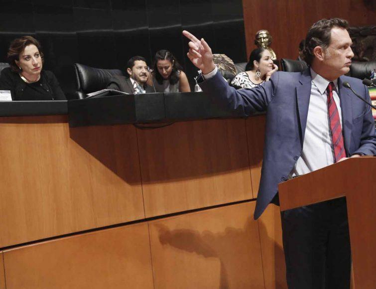 Intervención en tribuna del coordinador de las y los senadores del PAN, Mauricio Kuri González, para hablar en contra del voto particular del dictamen que desecha la minuta con proyecto de decreto que reforma y deroga diversas disposiciones de la ley para el desarrollo de la competitividad de la micro, pequeña y mediana empresa.