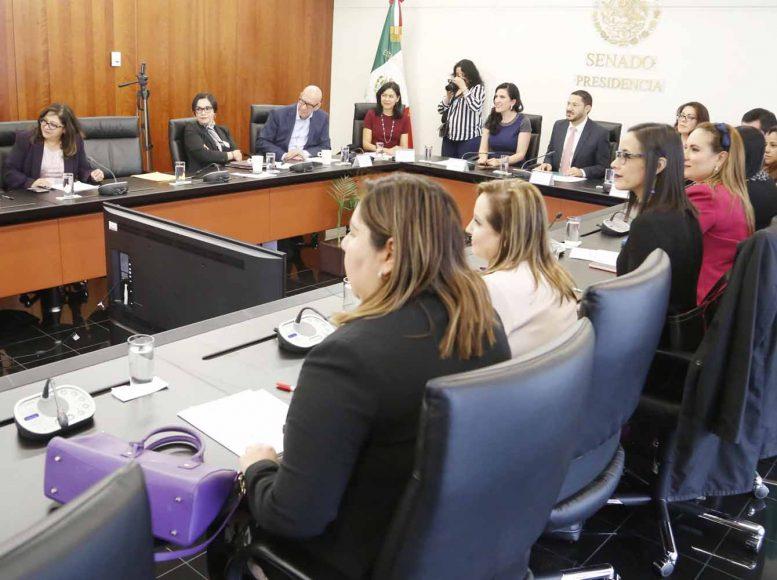 """Intervención de la senadora Kenia López Rabadán, en la reunión de trabajo con magistradas y juezas: """"Construyendo paridad con las juzgadoras""""."""