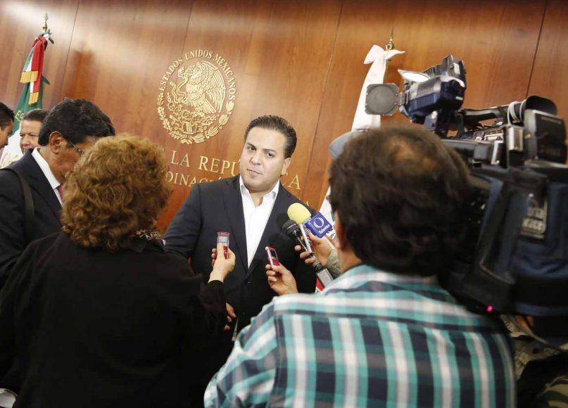 Intervención del senador Damián Zepeda Vidales durante la conferencia de prensa posterior a la reunión de trabajo de la Comisión de Justicia y de Estudios Legislativos Segunda.