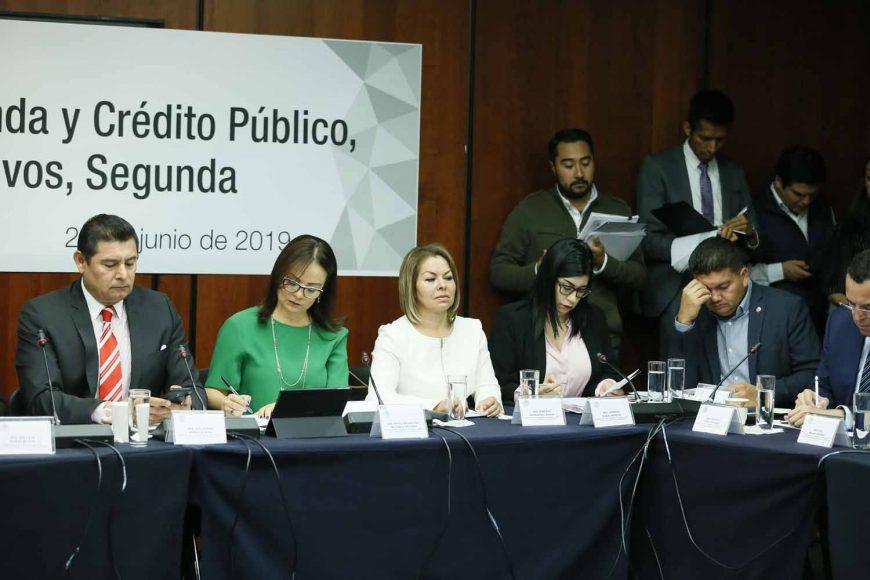 Intervención de la senadora Minerva Hernández Ramos en la reunión de las comisiones unidas de Hacienda y Crédito Público, y de Estudios Legislativos Segunda.