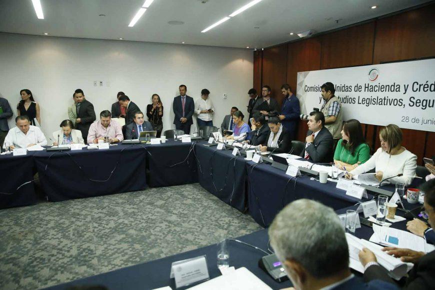Intervención del senadorRoberto Juan Moya Clemente en la reunión de las comisiones unidas de Hacienda y Crédito Público, y de Estudios Legislativos Segunda.