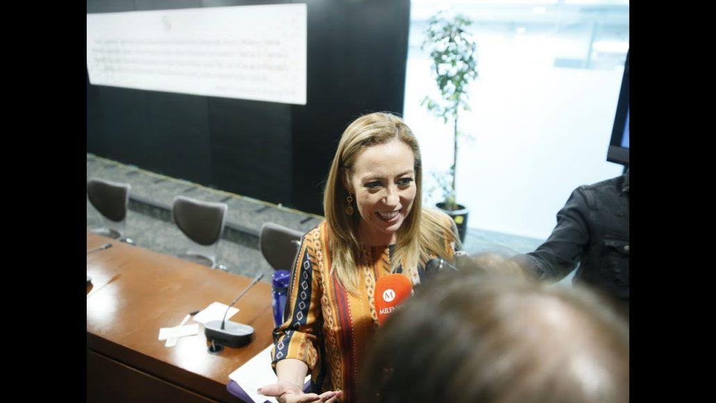 Entrevista a la senadora Alejandra Reynoso Sánchez, al término de la reunión de trabajo de las comisiones unidas de Relaciones Exteriores