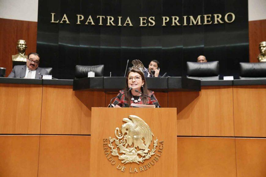 Intervención de la senadora Guadalupe Saldaña Cisneros, al participar en la discusión de un acuerdo de la Junta de Coordinación Política sobre el nombramiento de cinco integrantes de la Junta Directiva del organismo para la mejora continua de la educación.