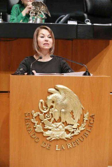 Intervención en tribuna de la senadora Minerva Hernández Ramos para presentar el posicionamiento del GPPAN a un dictamen por el que se expide la Ley Federal de Austeridad Republicana.