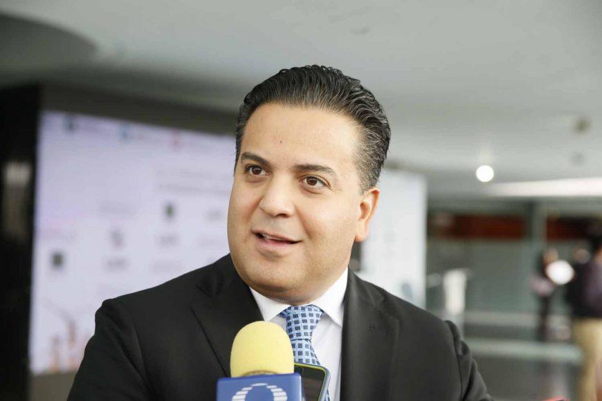 Senador Damián Zepeda Vidales, en entrevista previo al inicio de la sesión extraordinaria