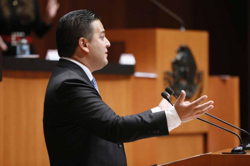 Senador Damián Zepeda Vidales, al participar en la discusión de un dictamen de la Tercera Comisión sobrediversas proposiciones en materia de atención al sargazo.