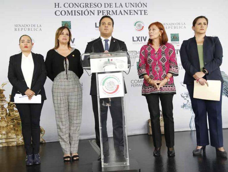Intervención del senador Damián Zepeda Vidales, durante la conferencia de prensa concedida por legisladores del PAN