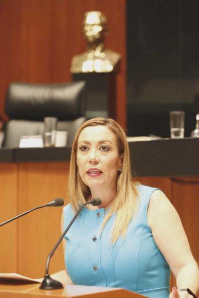 Senadora Alejandra Reynoso Sánchez, al participar en la discusión de un dictamen de la Segunda Comisión que exhorta a la Secretaría de Salud y a sus homólogas en las entidades federativas, a reforzar las estrategias para mejorar el acceso, cobertura y calidad de las acciones que permitan la prevención, detección, diagnóstico y atención oportuna de la Hepatitis C Crónica
