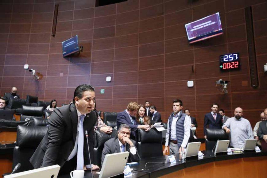 Senador Damián Zepeda Vidales al intervenir desde su escañopara solicitar una moción de orden a la Mesa Directiva.