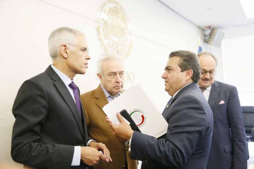 Senador Roberto Moya al intervenir en reunión de la Comisión de Relaciones Exteriores Europa.