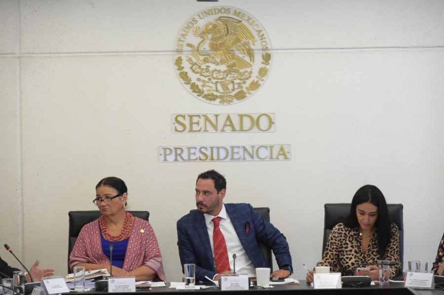 Senadora Xóchitl Gálvez Ruiz, durante la primera ronda de preguntas en la comparecencia de Álvaro Castro Estrada, aspirante a magistrado de la Tercera Sección de la Sala Superior del Tribunal Federal de Justicia Administrativa, ante la Primera Comisión de la Permanente.